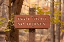 Foot Trail – No Horses