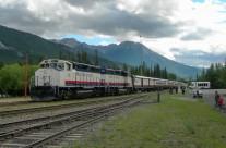 Rocky Mountaineer Arriving, Banff, Alberta