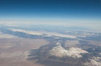 The Rockies from 40,000 ft