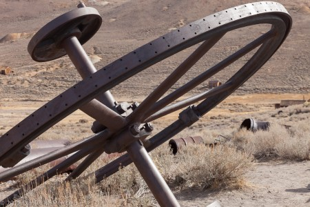 Belt Driving Wheel, Bodie State Historic Site