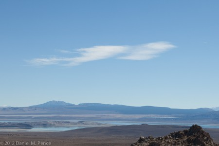 Combed Clouds Over Mono Lake