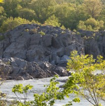 Bluffs on the Virginia side