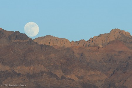 Moonrise Viewed from Zabriskie Point