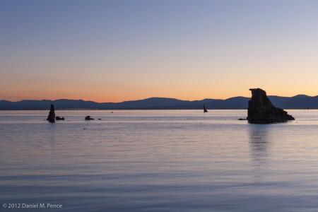 Tufa Silhouetted at Dawn