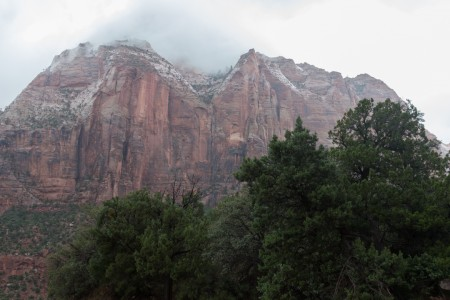 Rain Squalls Pass Through Zion NP