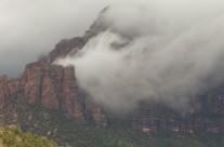 Rain Squalls Pass Through Zion NP