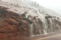 Sudden Rain Squall Closes Zion NP