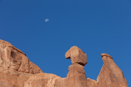 Waning Moon over Arches