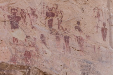 Petroglyphs on Wall in Sego Canyon