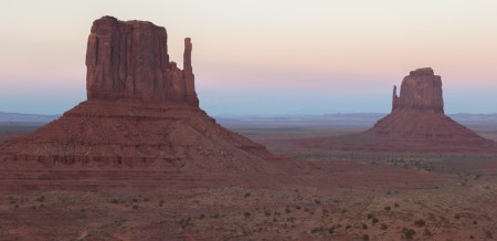 Monuments at Sunset