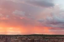 Rain Squall at Sunset